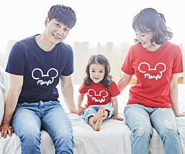 "<font color=""ffffff"">[Family Long Sleeve Tee & Family Look] <br></font> Monty Mouse family short T-shirts_18B05"