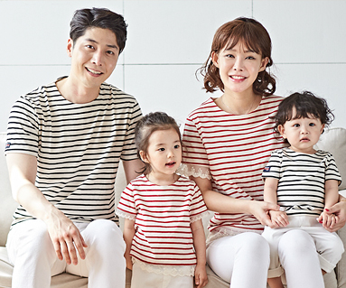 """<font color=""""ffffff"""">[Family long-sleeved tea & family look] <br></font> Diana + the day family short T-shirts_18B15"""