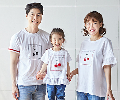 """<font color=""""ffffff"""">[Family long-sleeved tea & family look] <br></font> Cherry Coco family short T-shirts_18B16"""