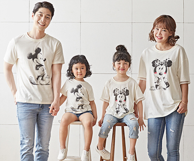 """<font color=""""ffffff"""">[Family long-sleeved tea & family look] <br></font> Petit Mickey family short T-shirts_18B22 <font color=""""red""""><b> </b></font>"""