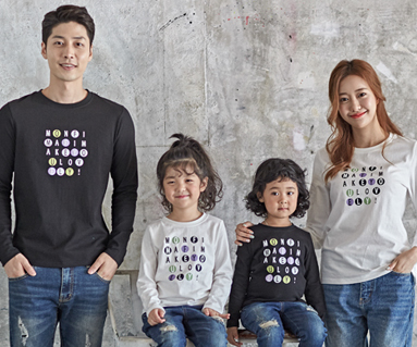 "<font color=""ffffff"">[Family long sleeve tee & family look] <br></font> Ping pong family long sleeve_18C01"