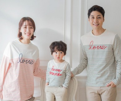 "<font color=""ffffff"">[Family long sleeve tea & family look] <br></font> family Cantaville long sleeve 19A05/family look, family tea"