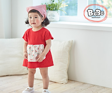 "<font color=""ffffff"">[Family Short Sleeve Tee & Family Look] <br></font> Cherry apron suit 19S133 / Kids wear, kids clothes, kids look"
