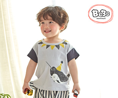 """<font color=""""ffffff"""">[Family Short Sleeve Tee & Family Look] <br></font> Whale hit T 19S139 / Kids wear, kids clothes, kids look"""