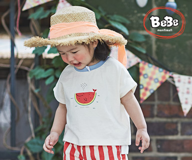 "<font color=""ffffff"">[Family Short Sleeve Tee & Family Look] <br></font> Watermelon Whale Tee 19B15 / Kidswear, Children's Wear, Kids Look"