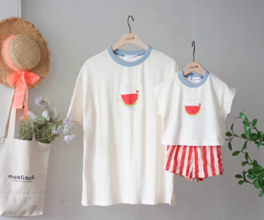 "<font color=""ffffff"">[Family Short Sleeve Tee & family Look] <br></font> family Watermelon Whale Tee 19B15 / Kids wear, kids clothes, kids look"