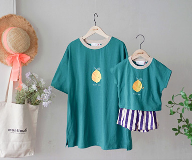 "<font color=""ffffff"">[Family Short Sleeve Tee & family Look] <br></font> family I'm Lemon Tee 19B14 / Kids wear, Children's clothes, Kids look"