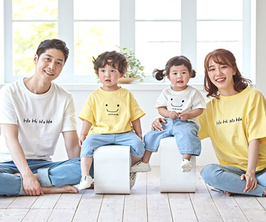 "<font color=""ffffff"">[Family short T-shirts Tee & family look] <br></font> family Hohaha short T-shirts 19B06 / familyLook, Family Tee"