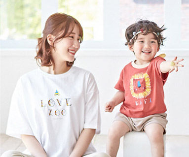 "<font color=""ffffff"">[Family short T-shirts Tees & Family Looks] <br></font> Camping Ryan Mom and Baby short T-shirts_19B01"