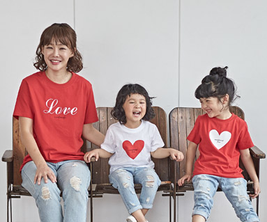 "<font color=""ffffff"">[Family short T-shirts Tees & Family Looks] <br></font> Co Love Mother and Baby short T-shirts_18B25"