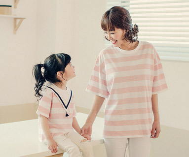 "<font color=""ffffff"">[Family short T-shirts Tees & Family Looks] <br></font> largest mom and baby short T-shirts_17B18"