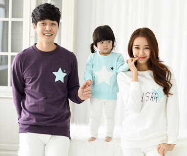 "<font color=""ffffff"">[Family Long Sleeve Tee & Family Look]<br></font> Raised StarMon Man to Man<font color=""red""><b> </b></font>"