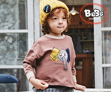 "<font color=""ffffff"">[Family Long Sleeve Tee & Family Look] <br></font> Elephant Man to man 19C05 / Children's wear, kids clothes, kids look"