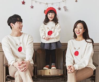 "<font color=""ffffff"">[Family long sleeve tea & family look]<br></font> family Brushed Rudolph Long Man to man long sleeve 19D04<font color=""red""><b> </b></font>"
