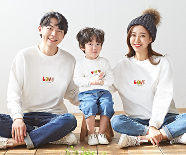 "<font color=""ffffff"">[Family long sleeve tea & family look]<br></font> family Brushed Traffic Light Love Man to man long sleeve 19D06<font color=""red""><b> </b></font>"