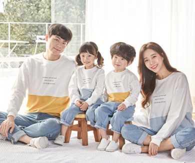 "<font color=""ffffff"">[Family long sleeve tea & family look] <br></font> family Sometime color matching man-to-man long sleeve 20A01/ family look, family photo costume <font color=""red""><b> </b></font>"