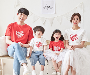 "<font color=""ffffff"">[Family short T-shirts Tee&family look] <br></font> family heart and round short T-shirts 20B02/ family look, family photo costume <font color=""red""><b> </b></font>"