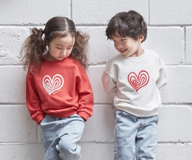 "<font color=""ffffff"">[Family Long Sleeve Tee & Family Look]<br></font> Children Heartrang Man to man 20C01<font color=""red""><b> </b></font>"