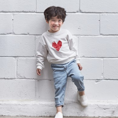 "<font color=""ffffff"">[Family Long Sleeve Tee & Family Look]<br></font> Children Yarn Love Man to man 20C03<font color=""red""><b> </b></font>"