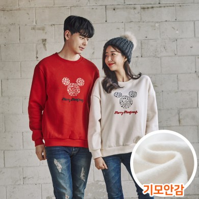 "<font color=""ffffff"">[Family Long Sleeve Tee & Family Look]<br></font> Brushed Snowflake Mouse Unisex Man to man 20D04<font color=""red""><b> </b></font>"