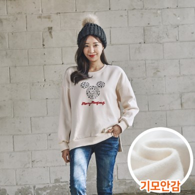 "<font color=""ffffff"">[Family Long Sleeve Tee & Family Look]<br></font> Brushed snowflake mouse women Man to man 20D04<font color=""red""><b> </b></font>"