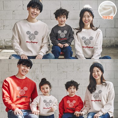 "<font color=""ffffff"">[Family Long Sleeve Tee & Family Look]<br></font> Brushed Snowflake Mouse family Man to man 20D04<font color=""red""><b> </b></font>"