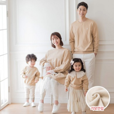 "<font color=""ffffff"">[Family Man-to-Man & Unisex]<br></font> family Brushed bagel long sleeve 18D06F/family look, family tea"