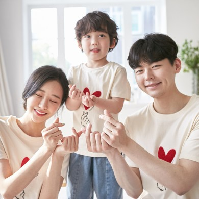 I love you short T-shirts family 21B01/ family look, family photo costume