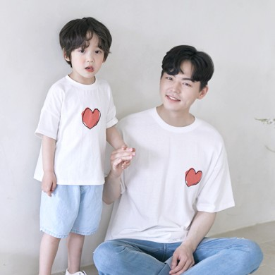 My Heart short T-shirts Dad and Baby 21B09MK/ Family Look, Family Photo Costume