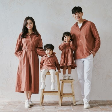 Holiday Brown long sleeve family 21C04/family look, family photo outfit