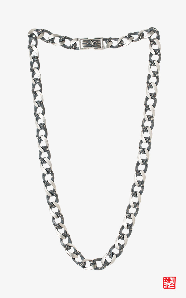 1468227 - [나스첸카 NASCHENKA] 은하수 생쪽 멋짐 목걸이_ 은목걸이 _ 유닉섹스 남녀공용