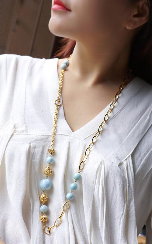 1023245 - [나스첸카 NASCHENKA] 스타일을 넣어준 평온의 라리마 _ 라리마 목걸이