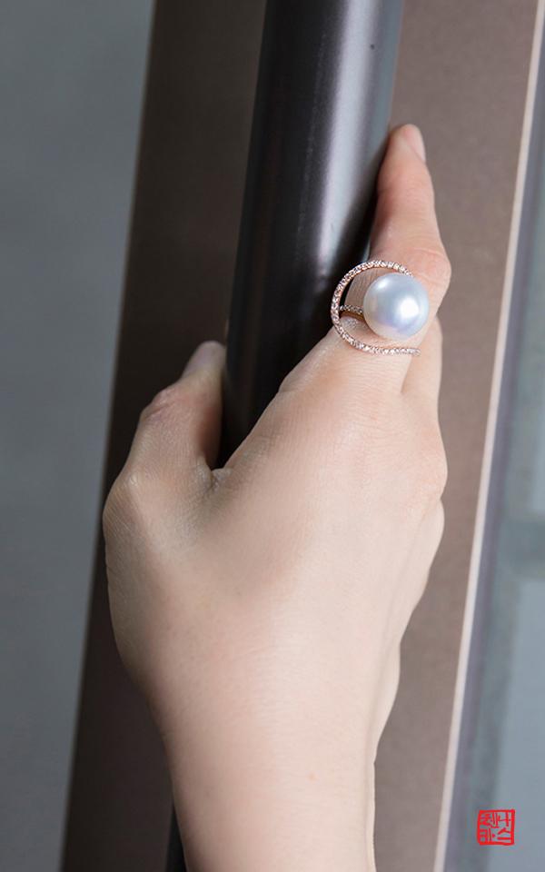 1159901 - [나스첸카 NASCHENKA] 지금 아름다운 14 mm 진주가 _ 14K 남양 진주 반지