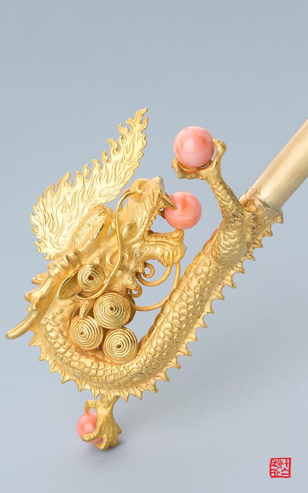 1320960 - [나스첸카 NASCHENKA] 웅장하다 비룡잠 _ coral 산호 비녀 용비녀
