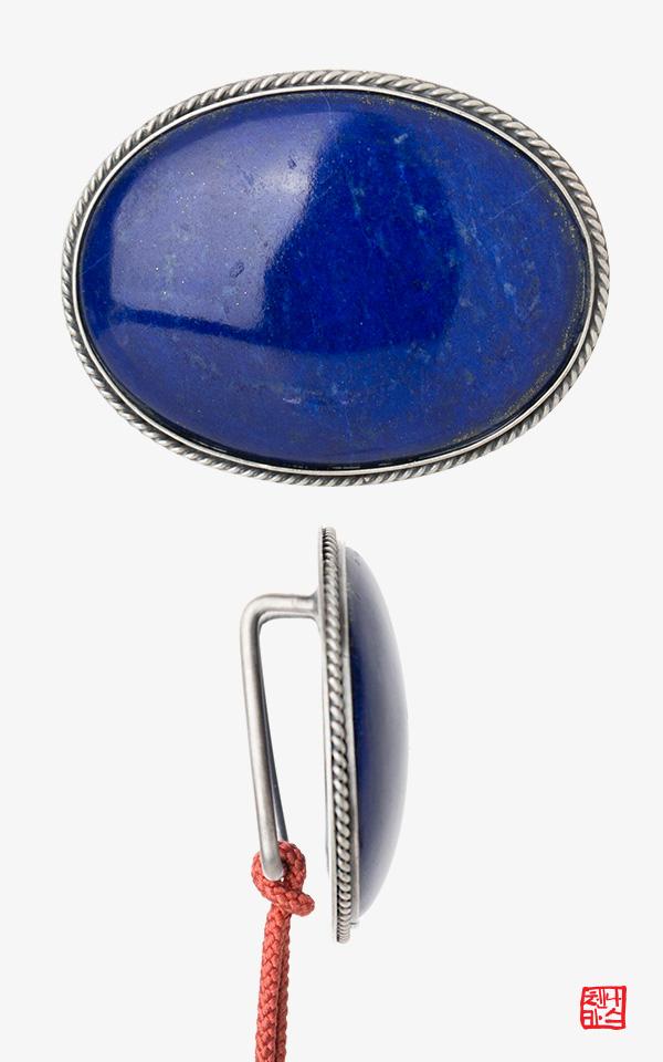 1433391 - [나스첸카 NASCHENKA] 푸른 청금석 _ 노리개 띠돈 _ 원석띠돈 _ 한복장신구 _ 한복악세사리
