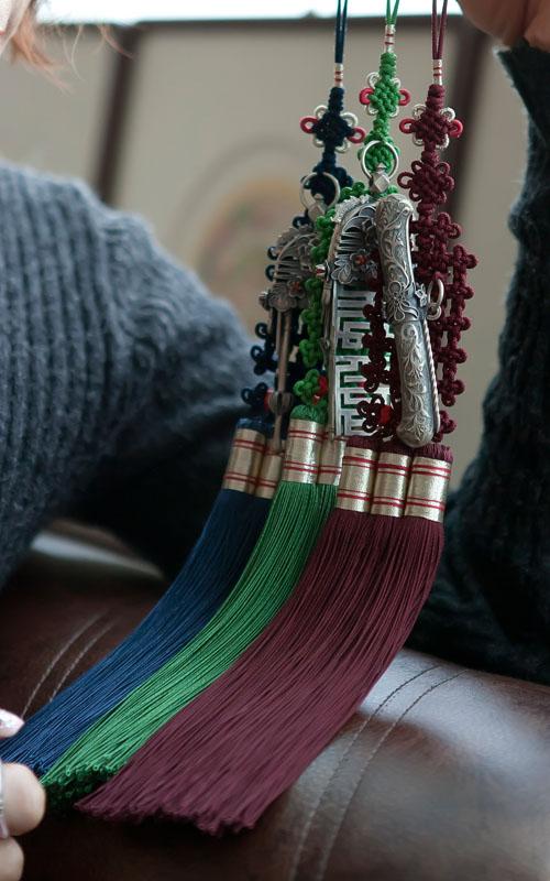10543 - [나스첸카 NASCHENKA] 여인소유 은 세공 나스첸카 NASCHENKA 삼작 노리개 [실버 은 수공예 노리개]