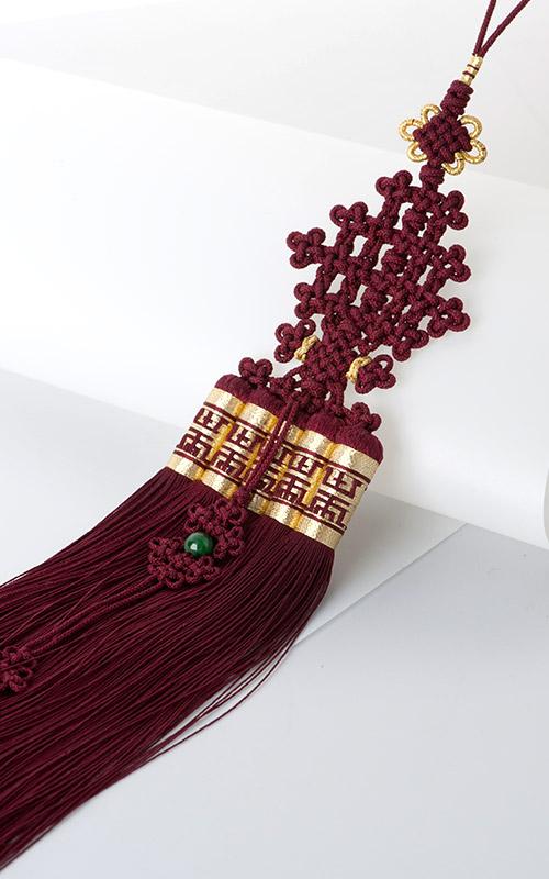 10684 - [나스첸카 NASCHENKA] 쉽고 편안한 우리 전통 매듭 [고급스러운 색감의 자색 견사 노리개 술]
