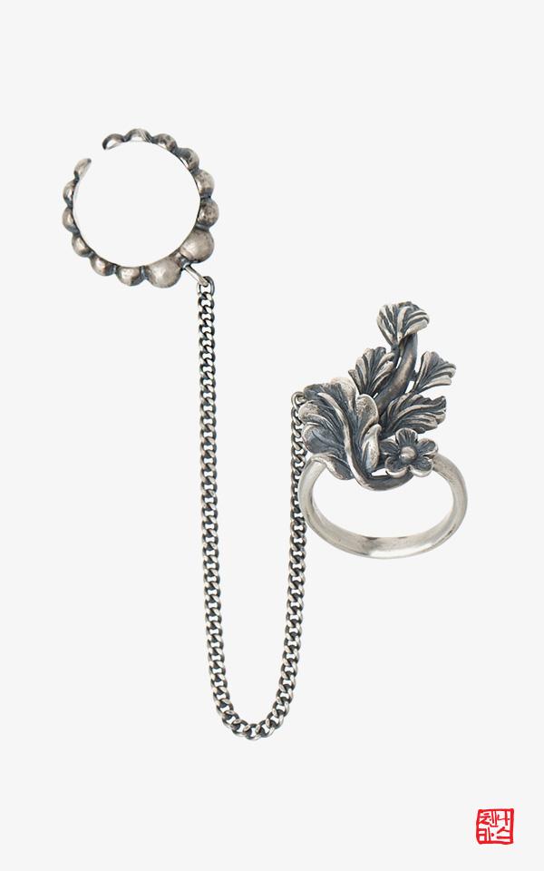 1451380 - [나스첸카 NASCHENKA] 꽃파당 은반지 _ 드라마 꽃파당 반지 가락지 쌍가락지 은반지 은가락지 은쌍가락지
