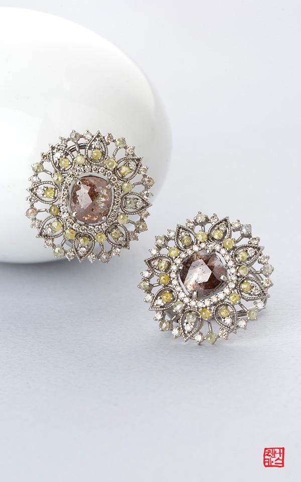 1456359 - [나스첸카 NASCHENKA] 이런 유혹 처음이야 _ 18K 러프 다이아몬드 귀걸이