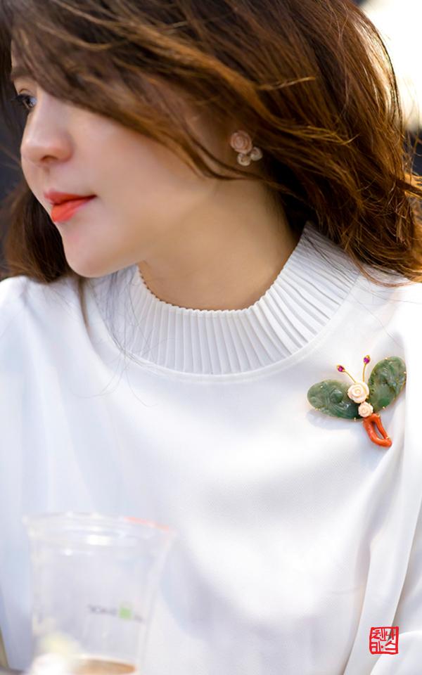 1346899 - [나스첸카 NASCHENKA] 궁극의 나비 비취의 매력으로 2 _ jade 비취 브로치
