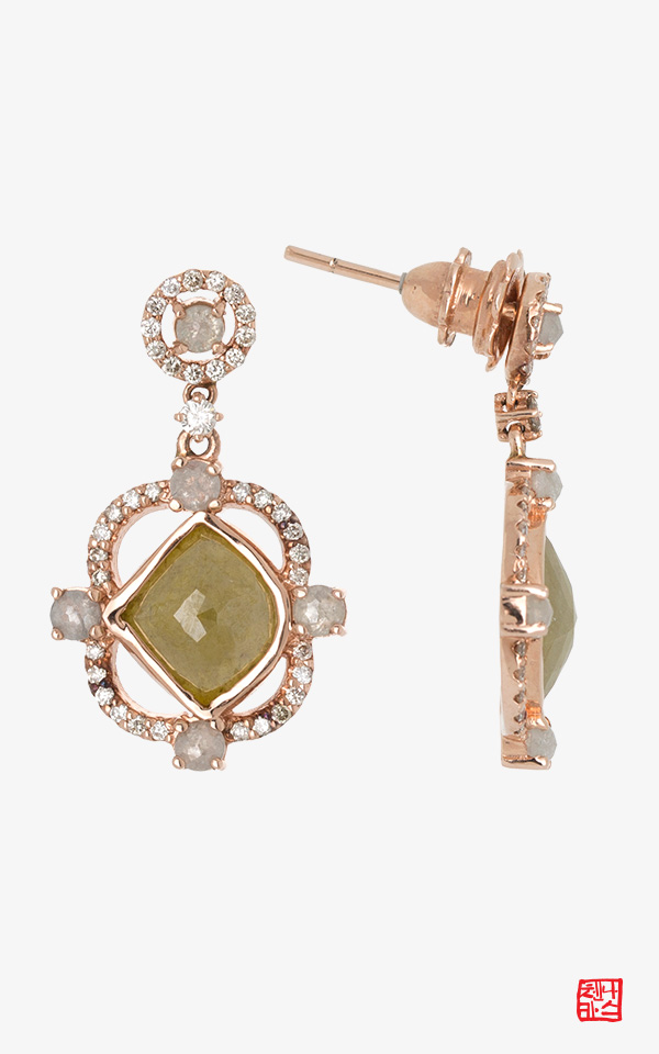 1467620 - [나스첸카 NASCHENKA] 뷰티풀 원더풀 8 _ 14K 다이아몬드 귀걸이