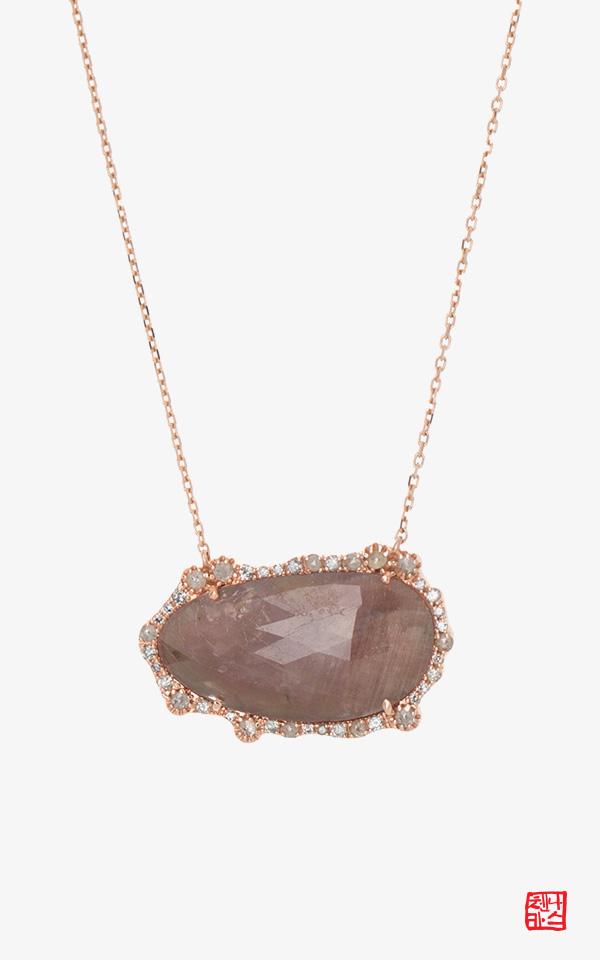 1467834 - [나스첸카 NASCHENKA] 무엇을 더 사랑하는가 _ 14K 사파이어 목걸이 다이아몬드 러프다이아몬드