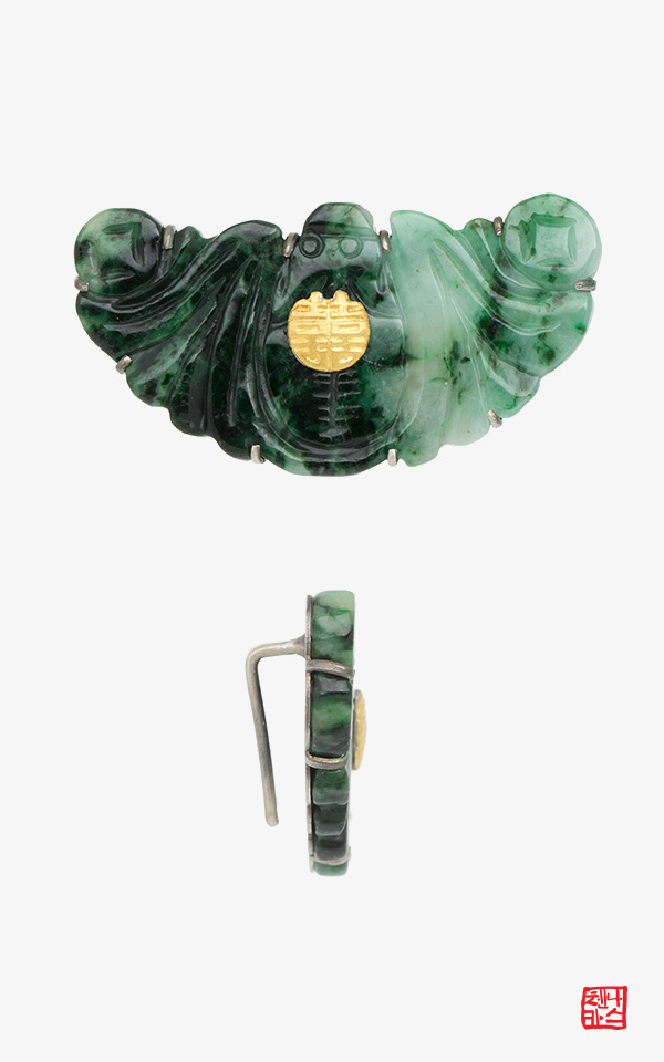 1456368 - [나스첸카 NASCHENKA] 옥띠돈 비취띠돈 박쥐문 옥 띠돈  은 띠돈 _ 노리개 띠돈