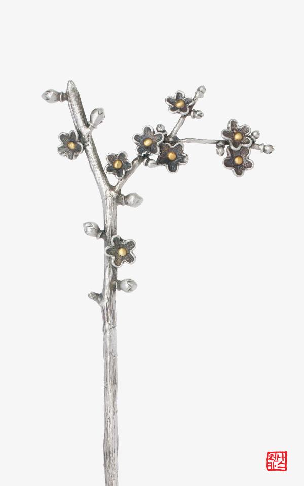 1469753 - [나스첸카 NASCHENKA] 매화나무 올림 _ 비녀 은비녀 일상비녀 뒤꽂이