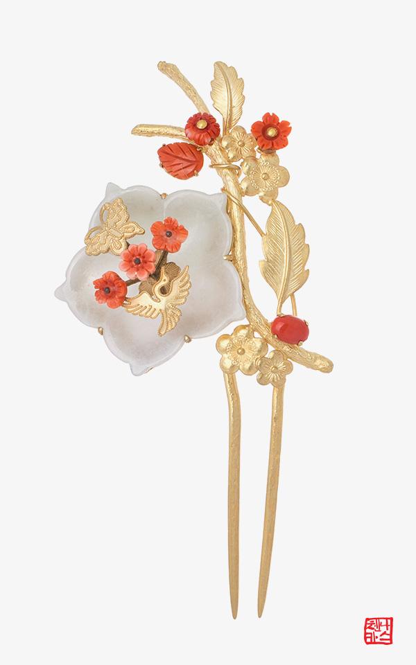 1473899 - [나스첸카 NASCHENKA] 금화 3 _ 비취뒤꽂이 비취비녀 옥비녀 전통장신구 한복악세사리