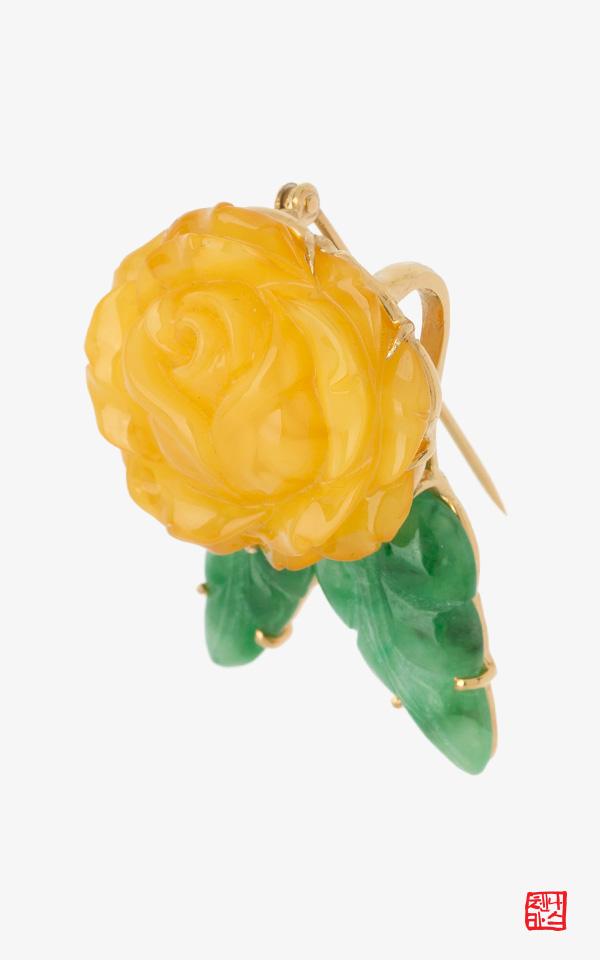1481806 - [나스첸카 NASCHENKA] 꿀예쁨 호박 앙증 _ 호박브로치 호박목걸이 한복악세사리 전통장신구