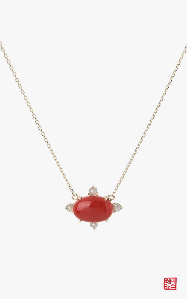 1351158 - [나스첸카 NASCHENKA]  빨간 _ 14K 산호 목걸이 적산호 목걸이