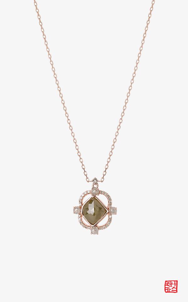 1494570 - [나스첸카 NASCHENKA] 휴일에는  14K 러프 다이아몬드 목걸이