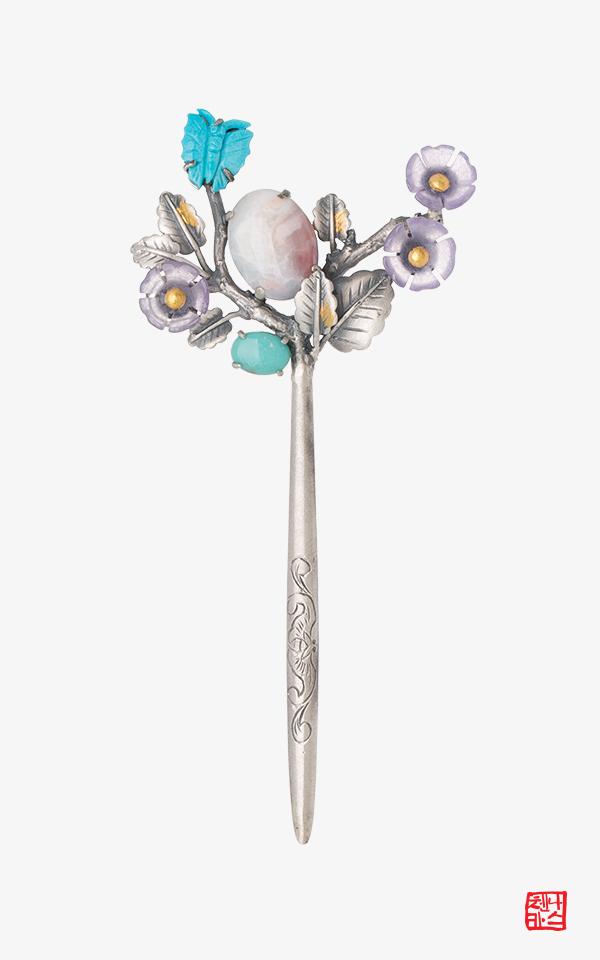 1525838 - [나스첸카 NASCHENKA] 수채화 사랑 _ 오팔 터키서 뒤꽂이 비녀 한복