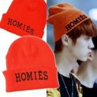 ★DAY SHIPPING★International celebrities' favorite ★ Korean popular group EXO style! orange beanie HOMIES